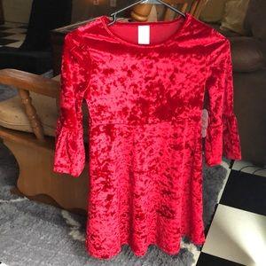NWT size med (7-8) velvet dress